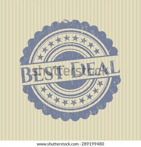 Best Deal rubber seal - stock vector