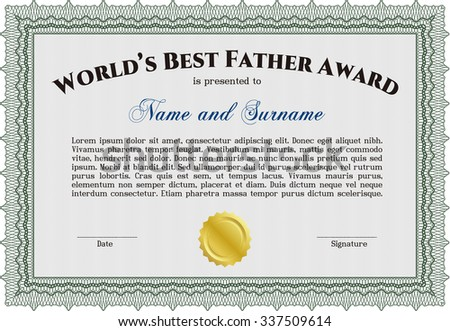Vector illustration worlds best father award stock vector best father award template retro design printer friendly customizable easy to edit yadclub Images