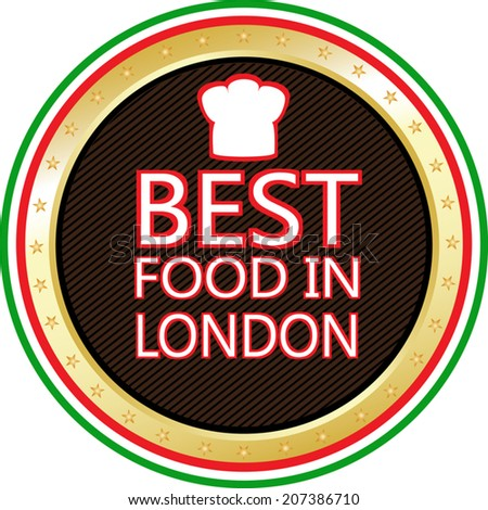 Best Food In London Icon - stock vector