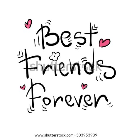 Best friends forever greeting card poster stock photo photo vector best friends forever greeting card poster postcard sticker tee shirt background design m4hsunfo