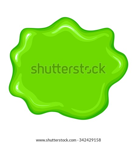 Best green slime sign isolated on a white background - stock vector