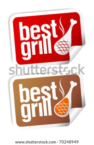 Best grill food stickers set.