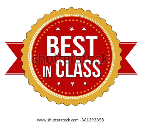 Best in class label or stamp on white background, vector illustration - stock vector