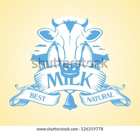 Best milk design template. - stock vector