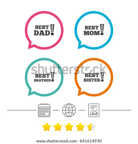 Best Mom Dad Brother Sister Icons Stock Vector 641614930 Shutterstock