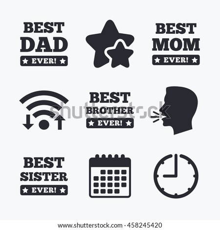 Best Mom Dad Brother Sister Icons Stock Photo Photo Vector