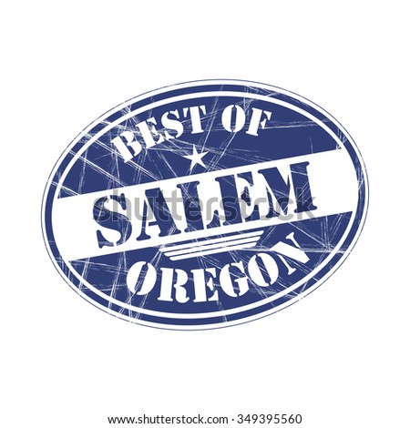 Best of Salem grunge rubber stamp against white background