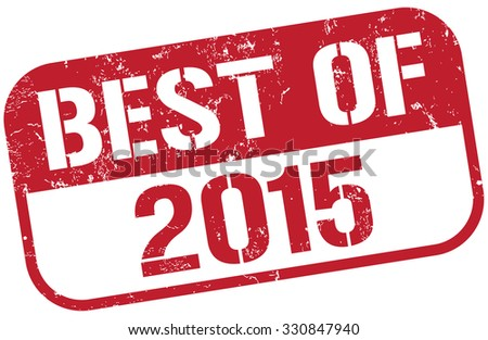best of 2015 stamp - stock vector