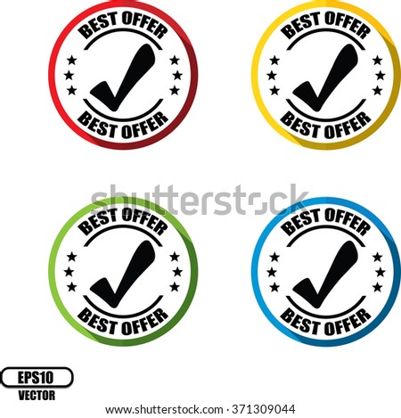 Best offer , Button, label and sign - Vector illustration - stock vector