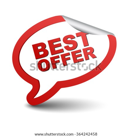 best offer, red vector best offer, red bubble best offer, sticker bubble best offer, element best offer, sign best offer, design best offer, picture best offer, illustration best offer, best offer eps - stock vector
