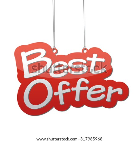 best offer, red vector best offer, red tag best offer, background best offer, illustration best offer, element best offer, sign best offer, design best offer, picture best offer, best offer eps10 - stock vector