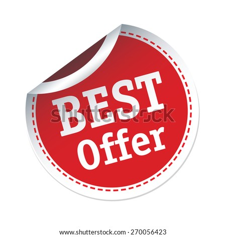 BEST Offer red vector sticker