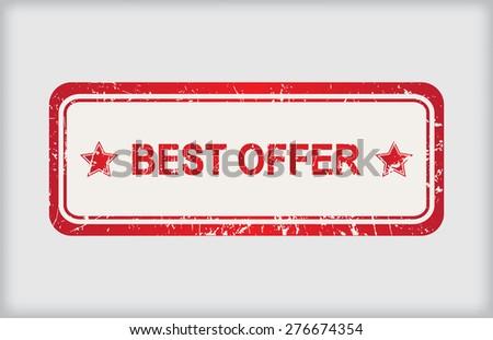 Best offer rubber stamp.Grunge best offer stamp.Vector illustration. - stock vector