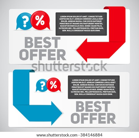 Best Offer Sale Banner with Place for Your Text. Vector Illustration EPS10 - stock vector