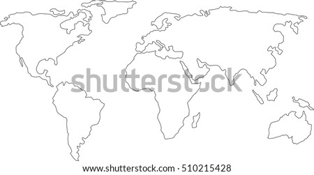 Africa world map graphic vector vectores en stock 707995429 best popular world map outline graphic sketch style background vector of asia europe north south gumiabroncs Choice Image