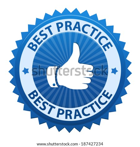 Best Practice label icon isolated on white background. Vector illustration - stock vector