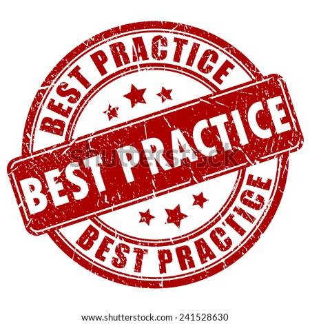 Best practice stamp - stock vector