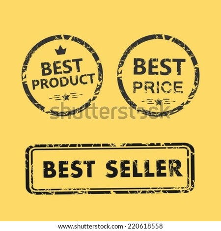 Best price and best product stump - stock vector