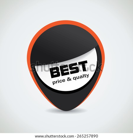 Best price and quality black tag with catchy orange outline - stock vector
