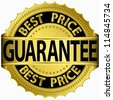 Best price guarantee golden label, vector illustration - stock vector