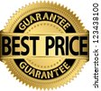 Best price guarantee golden label, vector illustration - stock photo