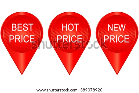 Best price, hot price, new price banners - stock vector