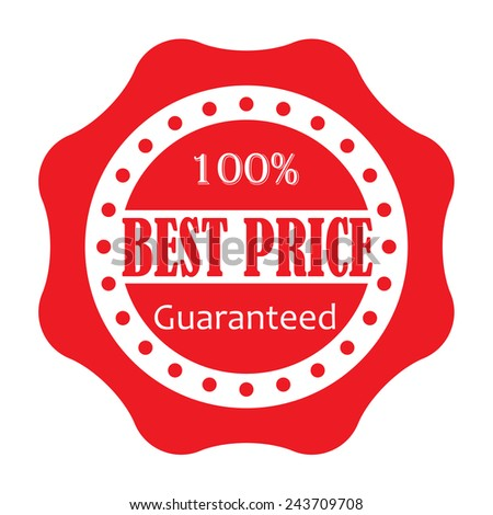 Best price label or seal isolated on white background. Vector illustration. - stock vector