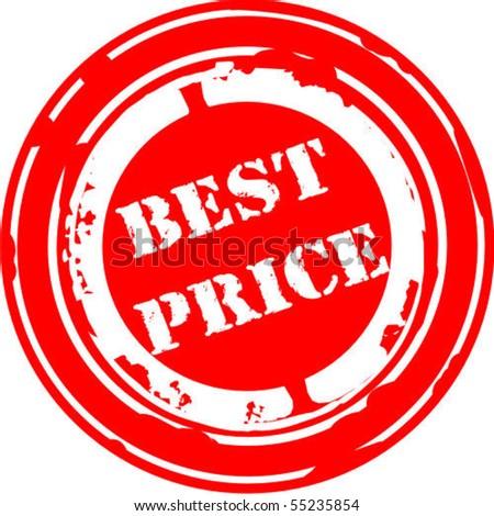 Best price rubber stamp - stock vector