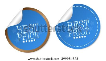 Best price stickers - stock vector