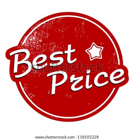 Best price vintage stamp - stock vector