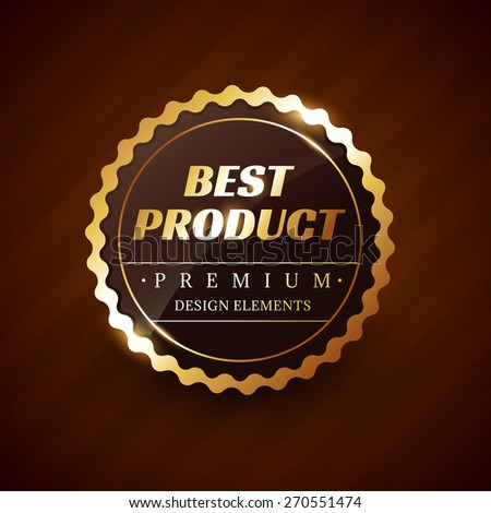 best product premium vector label design element - stock vector