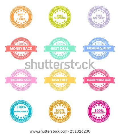 Best Product Sale Retro Badges Icons
