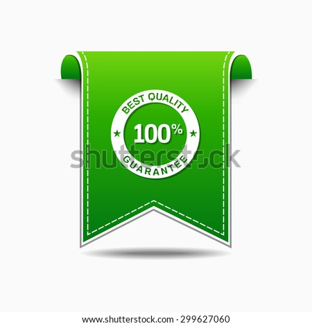 Best Quality Green Vector Icon Design - stock vector