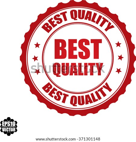 Best quality stamp.Vector. - stock vector