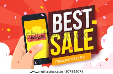 Best sale banner. Vector illustration