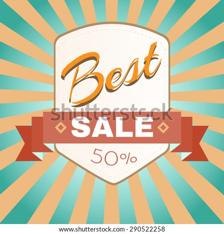 Best Sale Percentage Discount Flyer Vector Illustration. Percentage Discount. Holiday Hot Vacation Card. Market Shop Goods Sale Banner. - stock vector