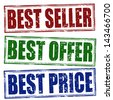 Best seller, best offer, best price  rubber stamps vector illustration - stock photo