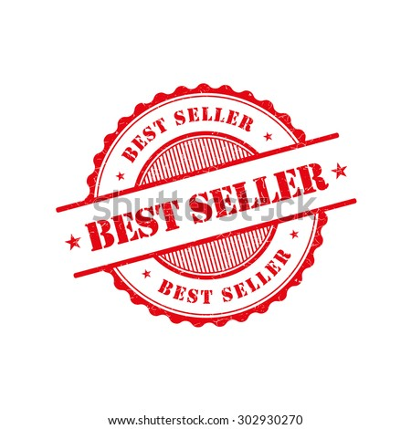 Best seller grunge retro red isolated stamp - stock vector