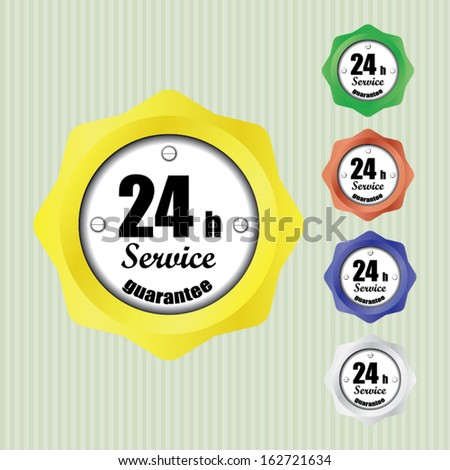 Best Service and support around the clock, 24 hours a day and 7 days a week - vector. - stock vector