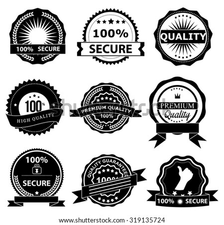 Best services badge icons set