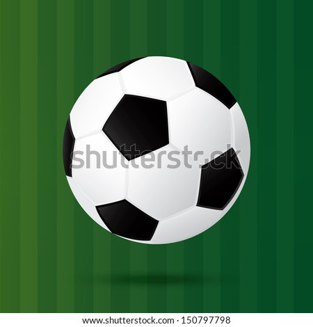best soccer football illusion isolated background - stock vector