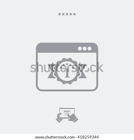 Best software or browser - stock vector