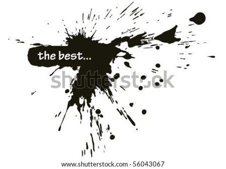 best stains and blots - stock vector