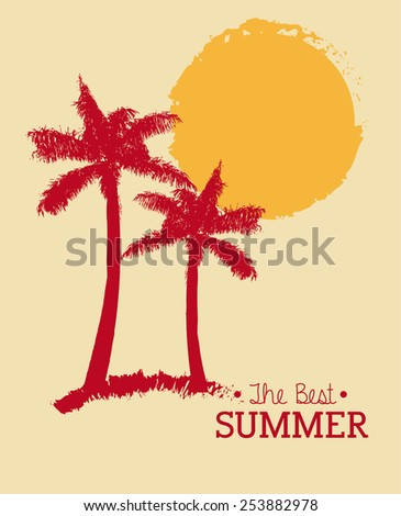 best summer design, vector illustration eps10 graphic