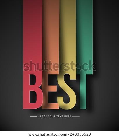 Best Text Made Modern Trendy Design Template . Vector design  - stock vector