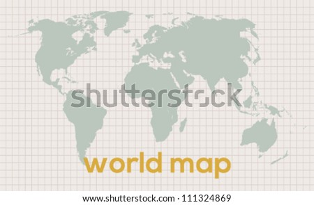 Best vector world map for your use on vintage background