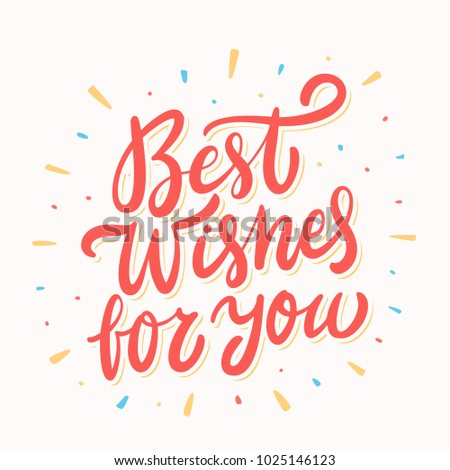 Best wishes you greeting card stock vector 2018 1025146123 best wishes for you greeting card m4hsunfo