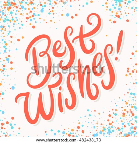 Best wishes greeting card stock vector 482438173 shutterstock best wishes greeting card m4hsunfo