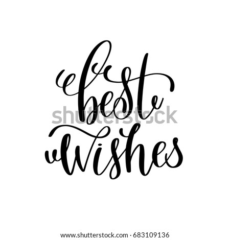 Best wishes hand lettering inscription winter stock vector 683109136 best wishes hand lettering inscription to winter holiday greeting card christmas banner calligraphy text quote m4hsunfo