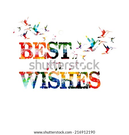 Best wishes inscription - stock vector